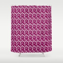 Lattice Pattern (Purple) Shower Curtain