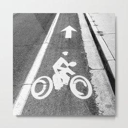 Pavement Biking Metal Print