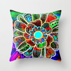 Florem Terrae Dark Throw Pillow