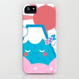 Sleepy fuji iPhone Case