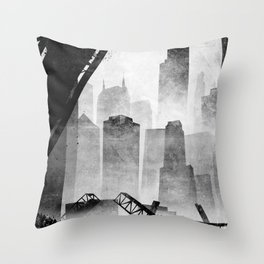 Sears Tower (from the Kinzie Bridge, Chicago, IL) Throw Pillow