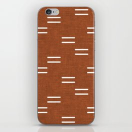 double dash - burnt orange iPhone Skin