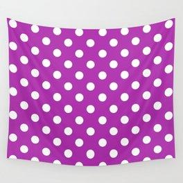 Polka Dots (White & Purple Pattern) Wall Tapestry