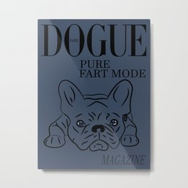 DOGUE MAGAZINE Pure Fart Mode Edt Blue Metal Print