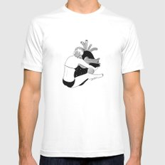 Heavy Heart Mens Fitted Tee White SMALL