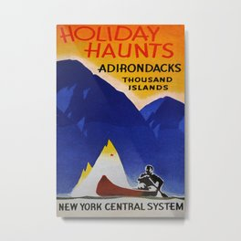 Holiday Haunts Vintage Travel Poster Metal Print