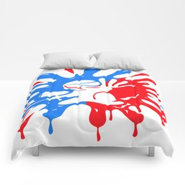 Paintball Splatter Red & Blue with Mascot Comforters