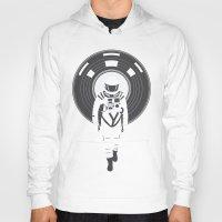dj Hoodies featuring DJ HAL 9000 by Robert Farkas