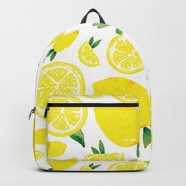 Zesty Lemon Pattern Backpack