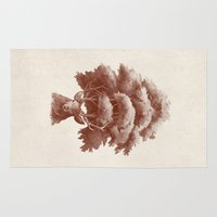 thrones Area & Throw Rugs featuring Old Growth  by Terry Fan
