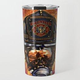 Firefighter rescue volunteer Travel Mug