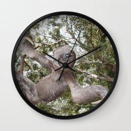 Sloth, A Real Tree Hugger Wall Clock