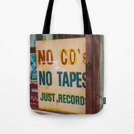 Just Records Tote Bag