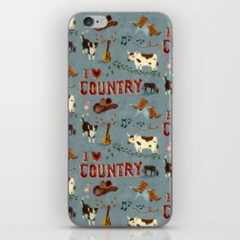I Love Country iPhone Skin