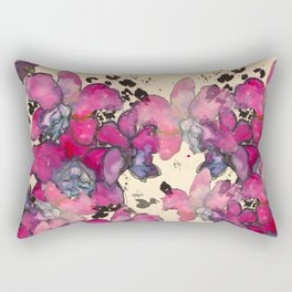Fuchsia Orchids Rectangular Pillow