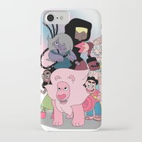 steven universe iPhone & iPod Cases featuring Steven Universe by Laura Pulido