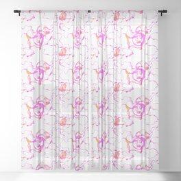 Terrestrial Inspiration seamless pattern Sheer Curtain