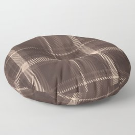 Rustic Brown Plaid  Floor Pillow