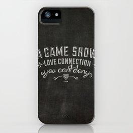 LYRICS - Game show love connection iPhone Case