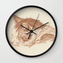 Vintage Cat Art - Jean Bernard Wall Clock