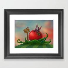 Tomato Bunny Framed Art Print