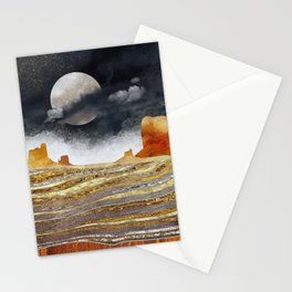Metallic Desert Stationery Cards