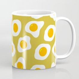 Eggs Pattern (Bitter Lemon Color Background) Coffee Mug