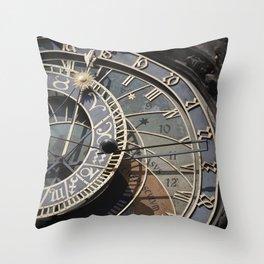 Astronomical clock Prague Throw Pillow