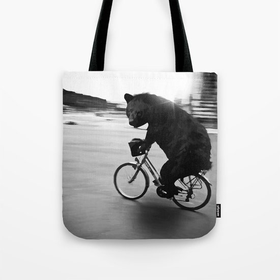 Biker Road Tote Bag