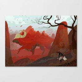 Earth Bull Canvas Print