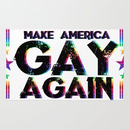 LGBT Queer Pride Make America Gay Again Rug