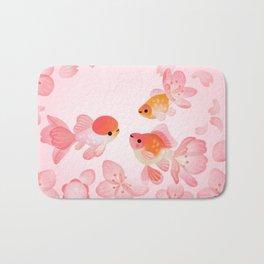 Cherry blossom goldfish Bath Mat