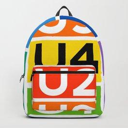 Berlin Ubahn lines Rainbow  Backpack