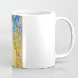 AQUATIC MELODY - Lovely Bright Abstract Ocean Waves Acrylic Painting Colorful Rainbow Beach Gift Art Coffee Mug