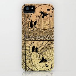Leaping Fox iPhone Case
