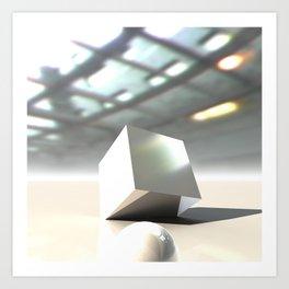 HDRI Cube Art Print