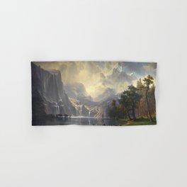 Among the Sierra Nevada California by Albert Bierstadt, 1868 Hand & Bath Towel
