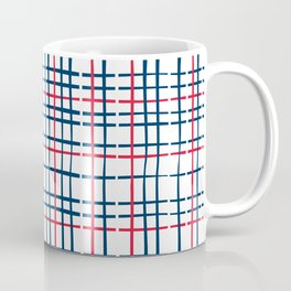 4th of July Skinny Gingham Coffee Mug