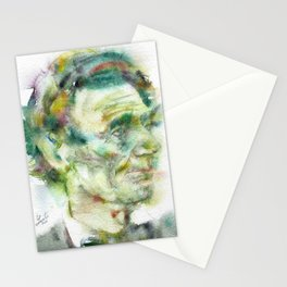 ABRAHAM LINCOLN - watercolor portrait.2 Stationery Cards