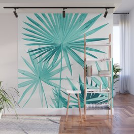 Fan Palm Leaves Jungle #3 #tropical #decor #art #society6 Wall Mural