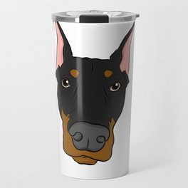 Doberman Travel Mug
