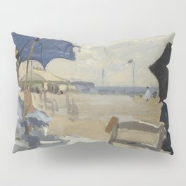 The Beach at Trouville by Claude Monet Pillow Sham
