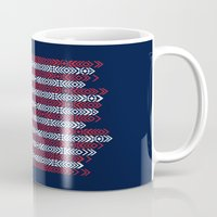 patriots Mugs featuring Native Patriots by Steven Toang