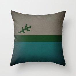 Labrador Flag Dark Throw Pillow
