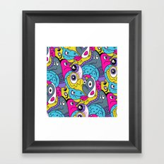 Idiot Bird Pattern Framed Art Print