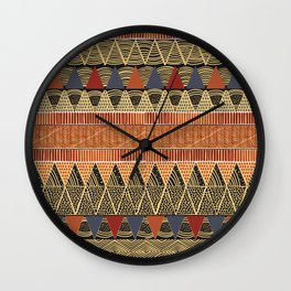 African style textile Wall Clock