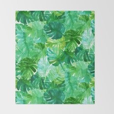 Welcome to the Jungle Palm Throw Blanket