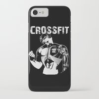 crossfit iPhone & iPod Cases featuring Crossfit by Line Jenssen