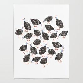 Guinea Hens Poster