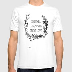 Small Things White Mens Fitted Tee SMALL
